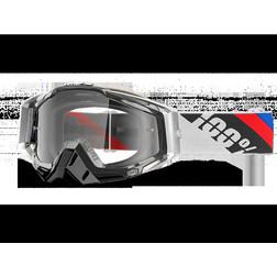 Occhiali Moto Cross Enduro 100% RACECRAFT Slant Carbon Lente Chiara 100%