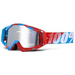 Occhiali Moto Cross Enduro 100% RACECRAFT Super Sonic Lente Mirror Silver Più Lente Chiara 100%