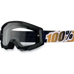 Occhiali Moto Cross Enduro 100% Strata Nero/Madarino 100%