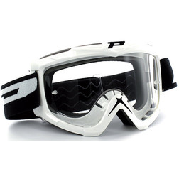 Occhiali Moto Cross Enduro Progrip Eco Colore Bianco Progrip
