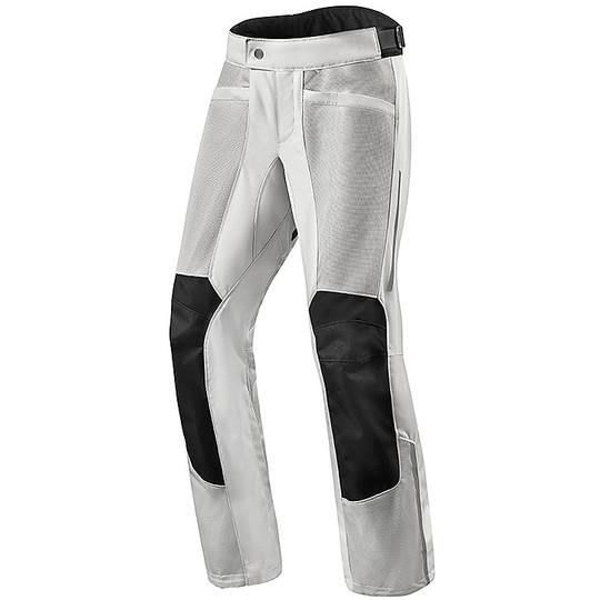 Pantalon de moto perforé Touring Rev'it AIRWAVE 3 Silver Shortened