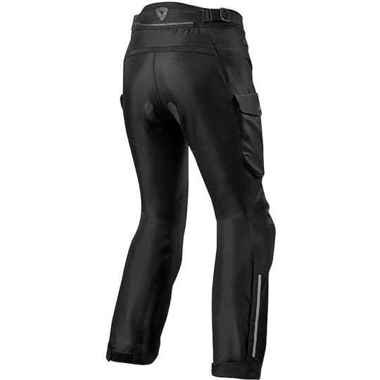 Pantalon moto femme en tissu Rev'it OUTBACK 3 LADIES Shortened Black