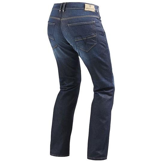 Pantalon Moto Jeans Rev'it Philly 2 Bleu Foncé L34