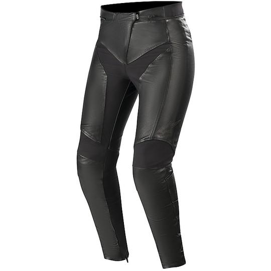Pantaloni Pelle Donna Alpinestars STELLA VIKA V2 Nero