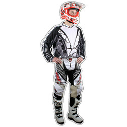 Pantaloni Moto Cross Enduro Fuoristrada Fm Racing X18 White Fm racing