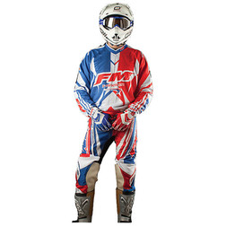 Pantaloni Moto Cross Enduro Fuoristrada Fm Racing X19 Blu Fm racing