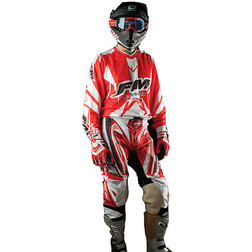 Pantaloni Moto Cross Enduro Fuoristrada Fm Racing X19 Rosso Fm racing