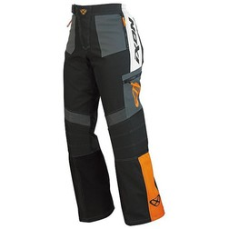 Pantaloni Moto Cross Enduro Fuoristrada Ixon Gigantic Impermeabili Nero-Arancio Ixon