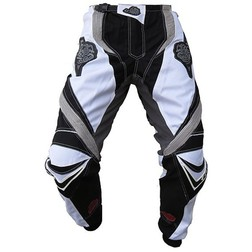Pantaloni moto Cross Enduro Loki Sport StarCross Bianco-Grigio Loki