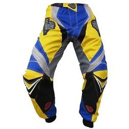 Pantaloni moto Cross Enduro Loki Sport StarCross Giallo-Blu Husquarna Loki