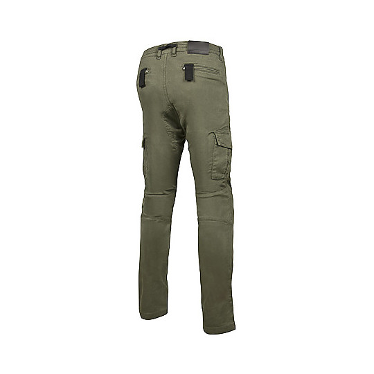 Pantaloni Moto In Tessuto Cargo Jeans Hevik HARBOUR Verde