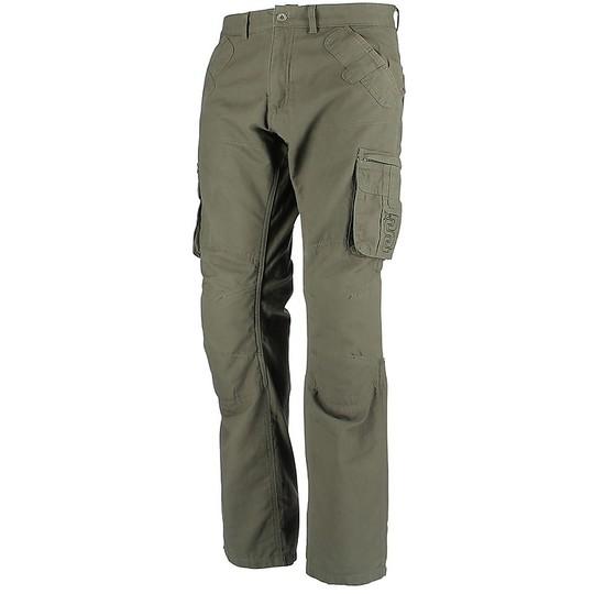 Pantaloni Moto In Tessuto OJ CARGO Verde Militare Vendita