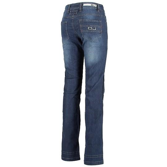 Pantaloni Moto Jeans Donna OJ Venere Lady Blu abbigliamento