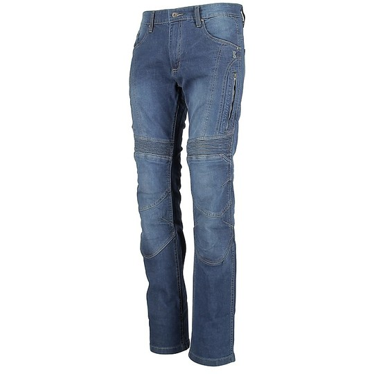 Pantaloni Moto Jeans OJ Breth con Prese D'Aria Blu