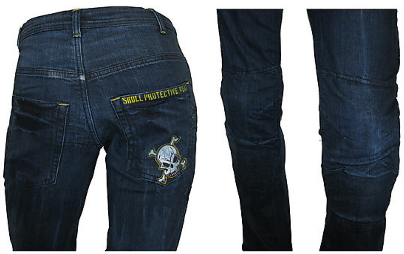 pantaloni moto jeans tecnici con kevlar skull protective. Black Bedroom Furniture Sets. Home Design Ideas