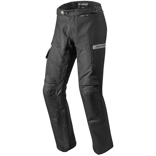 Rev'it Moto Pantaloni In Commuter Accorciati Tessuto Neri 0Zzz5xqw