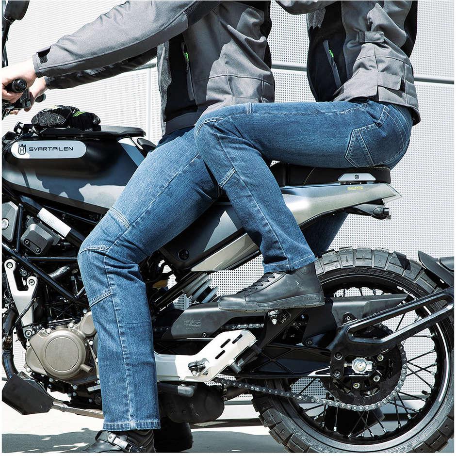 Pantaloni Moto Tecnici Jeans Hevik Tucson CE Blu