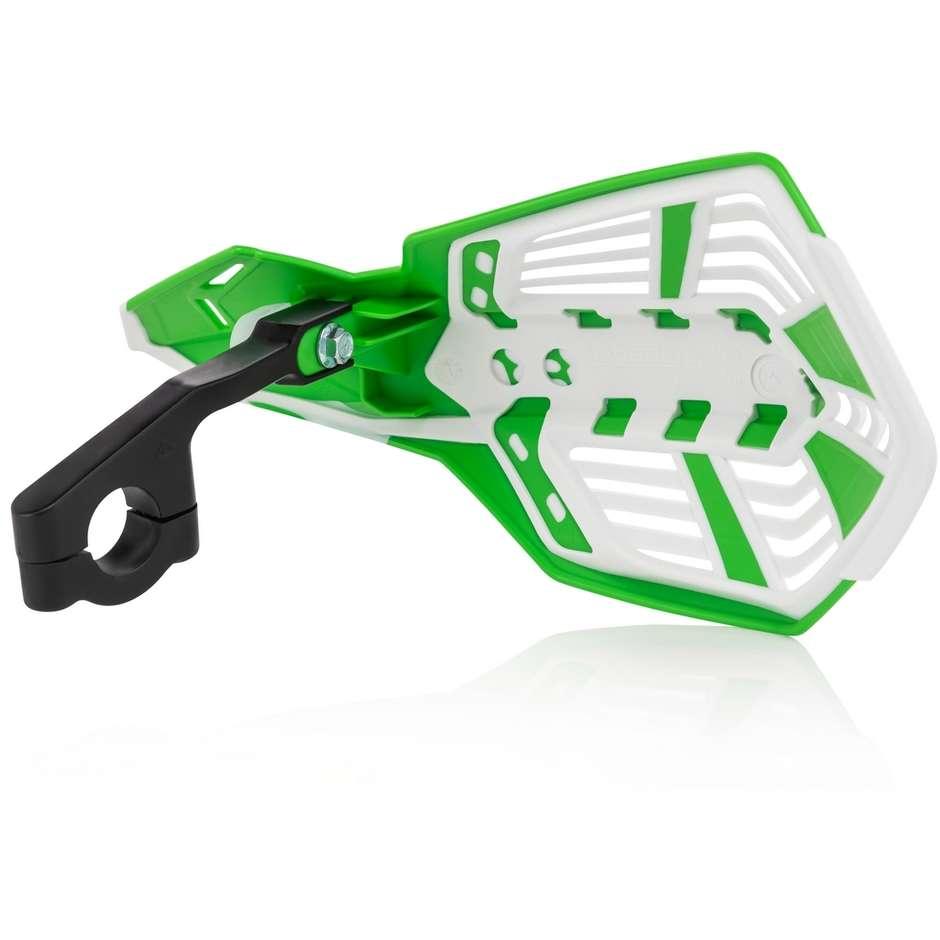 Paramani Aperto Con Bracciale Acerbis X-FUTURE Verde Bianco