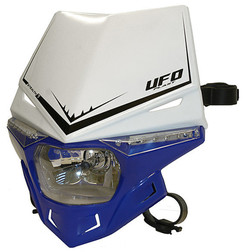 Portafaro Moto Cross Enduro Ufo Plast Stealth Bicolore Blu Bianco Ufo