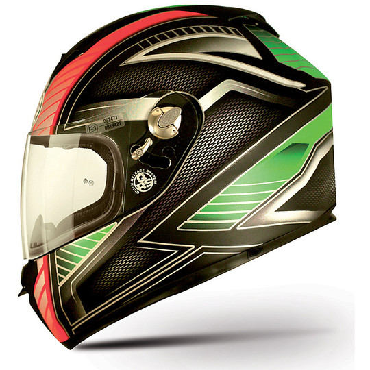 Premier Dragon Evo Multi IM9BM Integral Casque de moto Vert Carbon Red