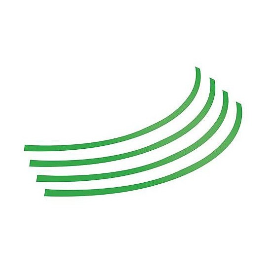 """Profili Ruota Adesivi Moto Pre Sagomati Lampa Verde per Cerchi (17""""-18""""-19""""-20"""")"""