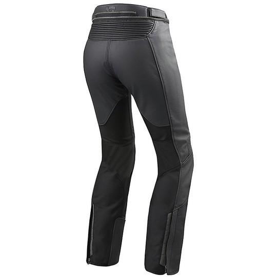 Rev'it IGNITION 3 Pantalon de moto en cuir pour femme noir raccourci