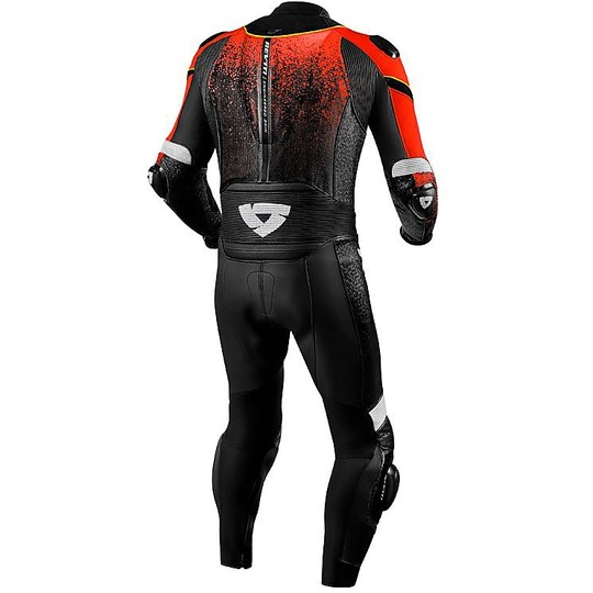 Rev'it QUANTUM Black Red Motorcycle Full Body Suit For ...