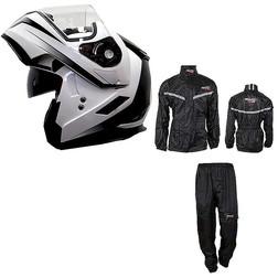 SAVING KIT - Dual Visor Modular Helmet + Rain Suit 2 Pieces Spark Senza marca