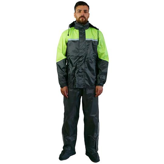 giacca, pantaloni, copristivali e zainetto XS CLASSICO E31 Nero TJ MARVIN Set completo antipioggia