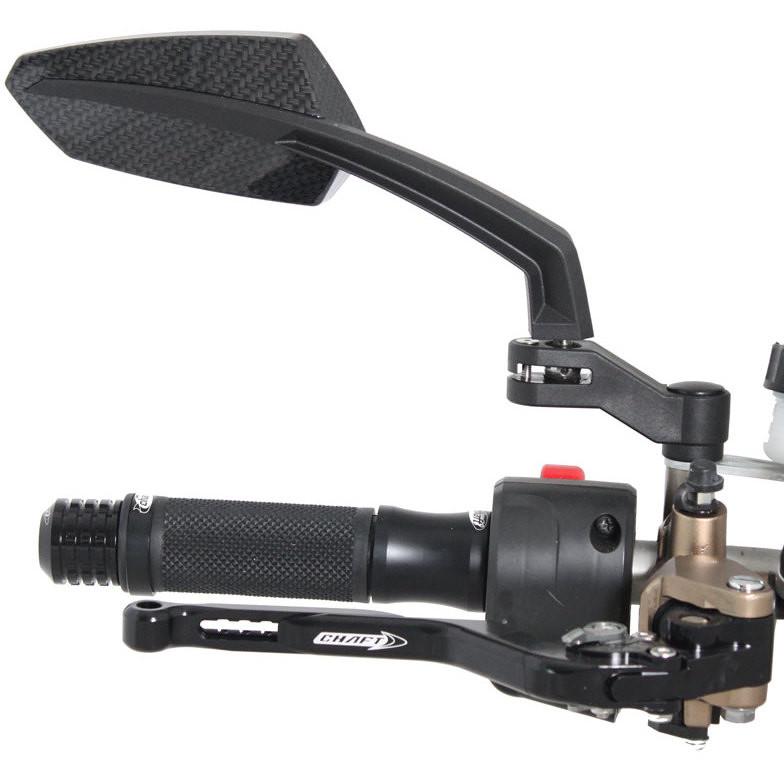 Specchi Retrovisori Moto Chaft Tilt Nero Coppia Vendita