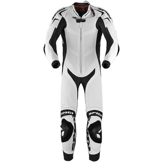 Spidi REPLICA PILOTI WIND Combinaison de moto de course en cuir blanc