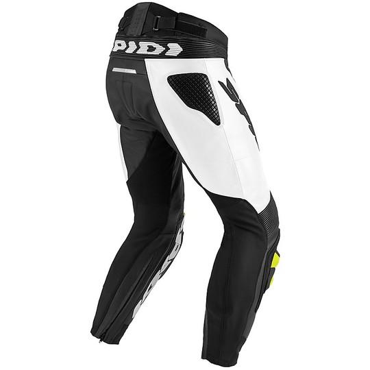 Black Spidi RR Pro Leather Sports Motorcycle Motorbike Trousers