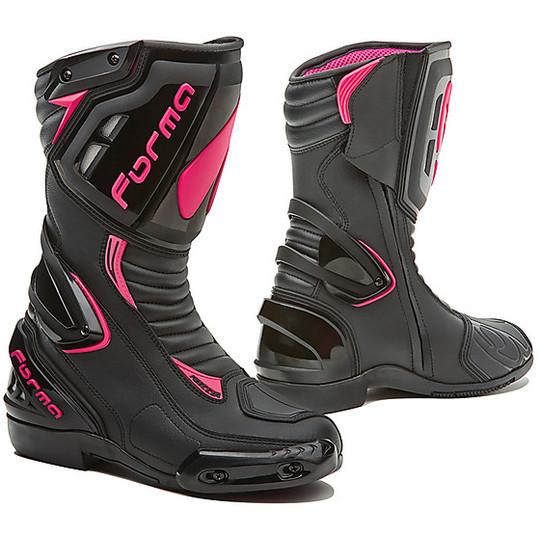 Stivali da Donna Moto Racing Forma FRECCIA LADY Nero Fucsia