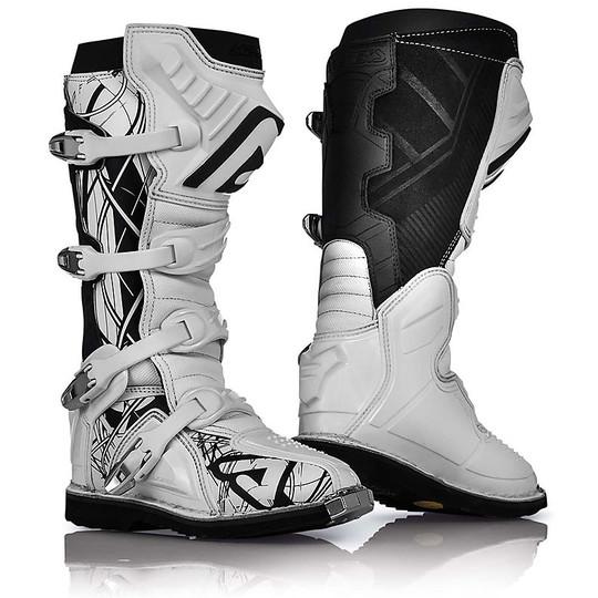 Cross Pro Stivali Abbigliamento Enduro Bianco Moto X Acerbis Nero H92DWEI