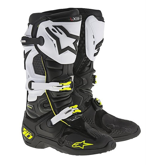 Stivali Moto Cross Enduro Alpinestars Tech 10 Nero Bianco