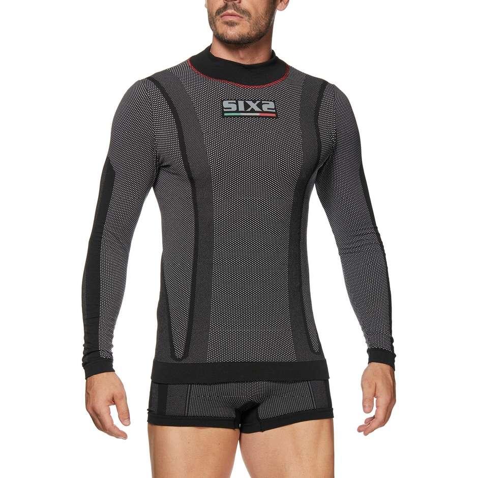 T-Shirt Maglietta intima Sixs TS3W Invernale Lupetto a maniche lunghe