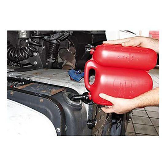 Tanica Carburante Con Travasatore a 2 Comparti 5,5+3 L