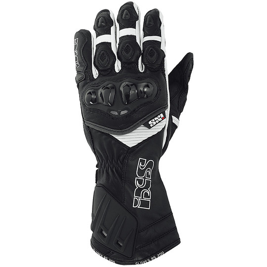 Technical Racing Racing IXS RS-200 Black White Gloves Certified With Protections