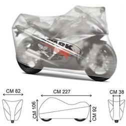 Telo Coprimoto e Scooter Spark 0191 Trasparente Impermeabile In Nylon Grigio Spark