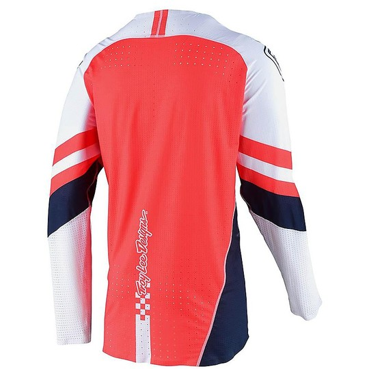 Troy Lee Design SE Ultra FACTORY TEAM Cross Enduro Motorcycle Jersey White Navy
