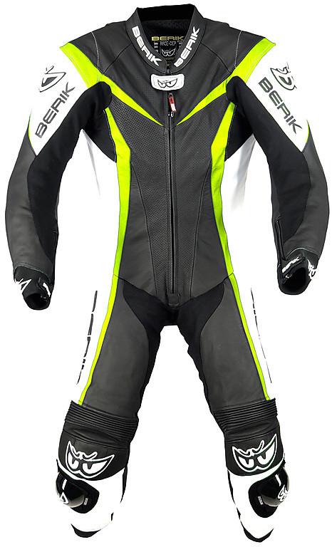 Giacca in pelle da motociclista Berik Conquest