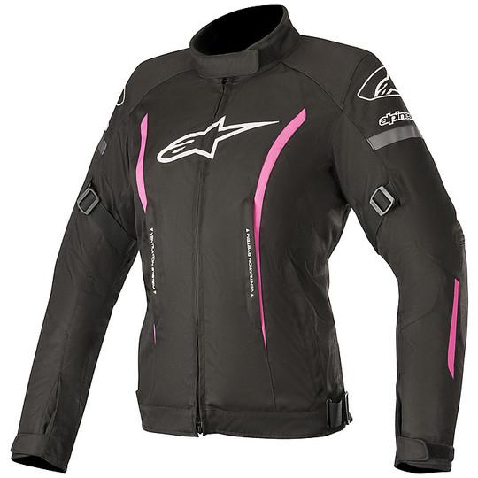 Veste moto femme en Alpinestars Stella GUNNER v2 Tissu Imperméable Noir Fuchsia